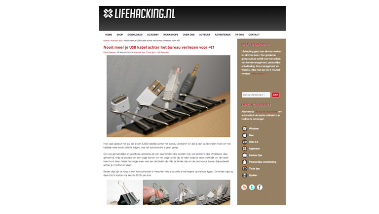 lifehacking David Bakker binderclip